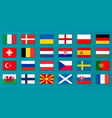 set of europe country flags vector image