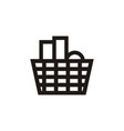 shop basket logo vector image