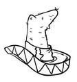 sombrero black vector image vector image