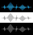 sound wave vibration signal vector image