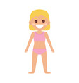 standing smiling little girl in flat style vector image