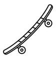 street skateboard icon outline style vector image vector image
