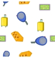 Taxi elements pattern cartoon style vector image