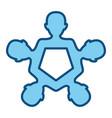 teamwork abstract symbol vector image