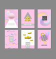trendy abstract posters set with fluid elements vector image vector image