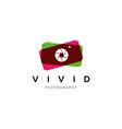vibrant camera photography logo symbol vector image vector image