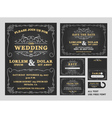 Vintage Chalkboard Wedding Invitations design sets vector image