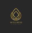 wellness center design logo