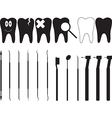 Dentistry tools vector image