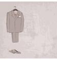 sketch groom suit vector image