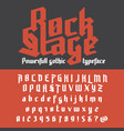 fresh new powerfull gothic typeface - rock stage vector image