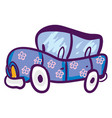 a car with pink flowers color vector image vector image