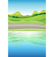 A view of the river vector | Price: 1 Credit (USD $1)