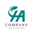 abstract ha logo with color gradations connecting vector image vector image