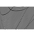 abstract op art pattern vector image