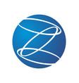 abstract unity symbol three rings logo design vector image