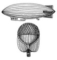airship or zeppelin and dirigible or blimp air vector image vector image