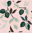 almond pattern in pastel pink green blue flowers vector image