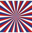 american background with sunburst blue and red vector image