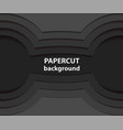 background with black paper cut shapes 3d vector image vector image