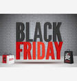 black friday sale 70 percent offer banner template vector image vector image