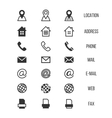Business card icons home phone address