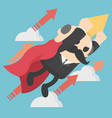 businessman with jetpack vector image