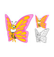 Butterfly Cartoon Character vector image vector image