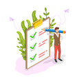 checklist on clipboard isometric flat vector image vector image