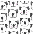 childish seamless pattern with hand drawn coalas vector image vector image
