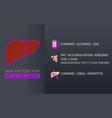 cirrhosis icon design infographic health medical vector image vector image