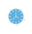 clock time seconds icon design vector image vector image