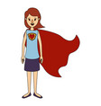 color image caricature full body super hero woman vector image vector image