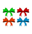 colored ribbon bows outline image sketch vector image