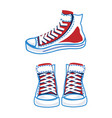 colorful sports sneakers set vector image