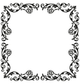 Corner elements Decorative vintage ornament for vector image vector image