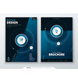 cover set dark blue template for brochure banner vector image vector image