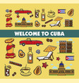 cuban culture promo banner with national symbols vector image vector image