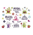 cute cartoon monsters vector image