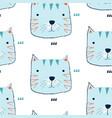 cute cat seamless pattern vector image