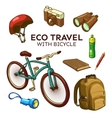 Eco Bicycle Travel Elements Set vector image vector image