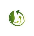 ecological circle arrows recycle logo recycling vector image vector image