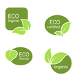 Ecological frames and labels set vector image vector image