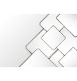 elegant modern luxury white geometric square