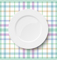 empty classic white plate placed on a kitchen vector image vector image