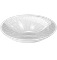 empty white bowl vector image vector image