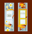 front doors to houses and buildings set banners vector image