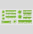 green slime dirty goo splat realistic paint blob vector image vector image