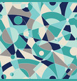 grid seamless pattern with random geometric vector image vector image