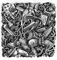 hair salon hand drawn doodles vector image vector image